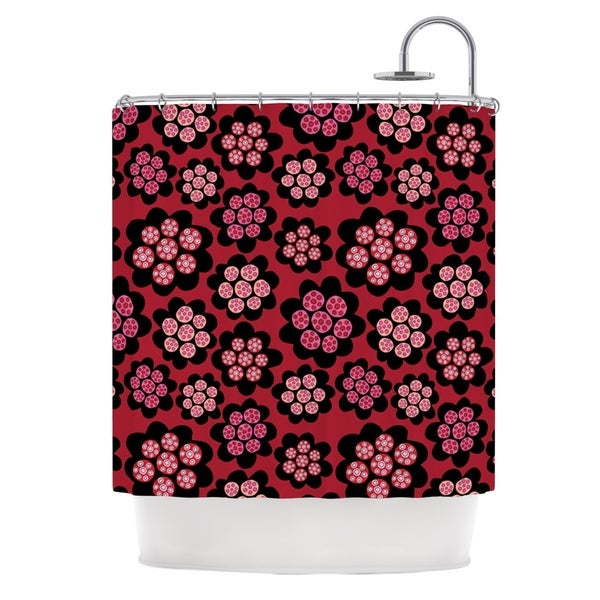 KESS InHouse Jane Smith Garden Pods Repeat Pink Floral Shower Curtain (69x70)