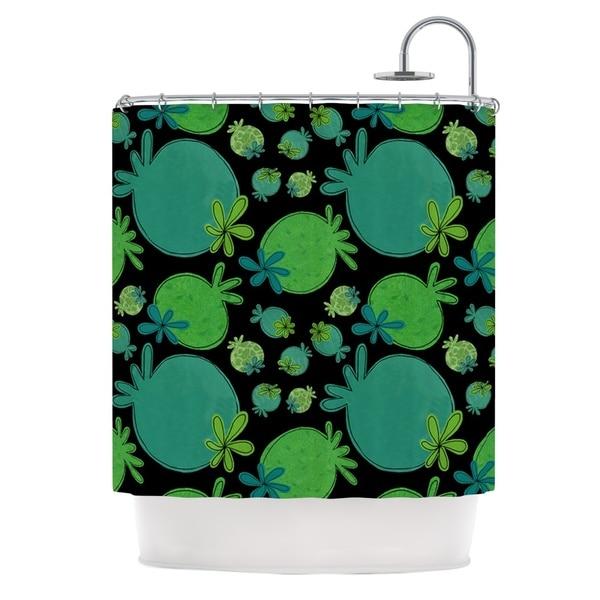 KESS InHouse Jane Smith Garden Pods Green Teal Shower Curtain (69x70)