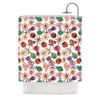 "KESS InHouse Jane Smith ""Garden Floral"" Plants Bugs Shower Curtain (69x70) - 69 x 70"