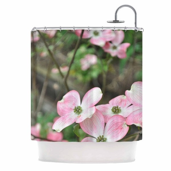 KESS InHouse Jennifer Rizzo Spring Flowering Dogwood Pink Photography Shower Curtain (69x70)