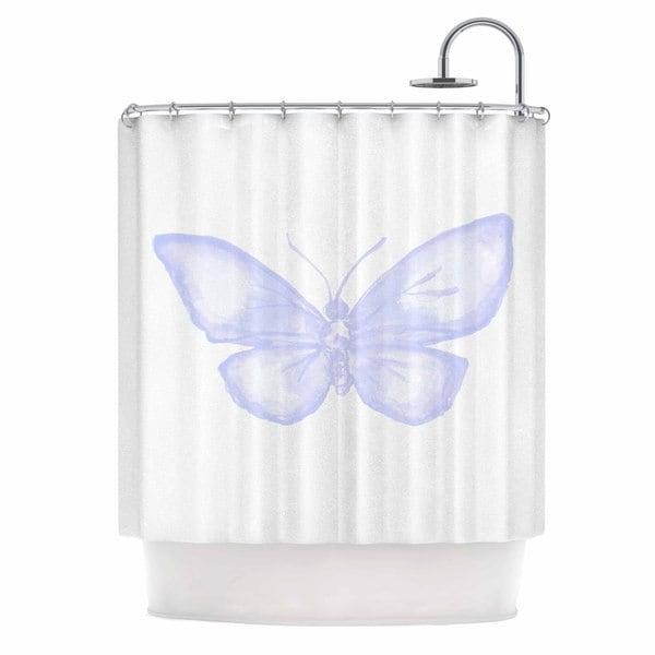 KESS InHouse Jennifer Rizzio Lavender Butterfly Purple Animals Shower Curtain (69x70)