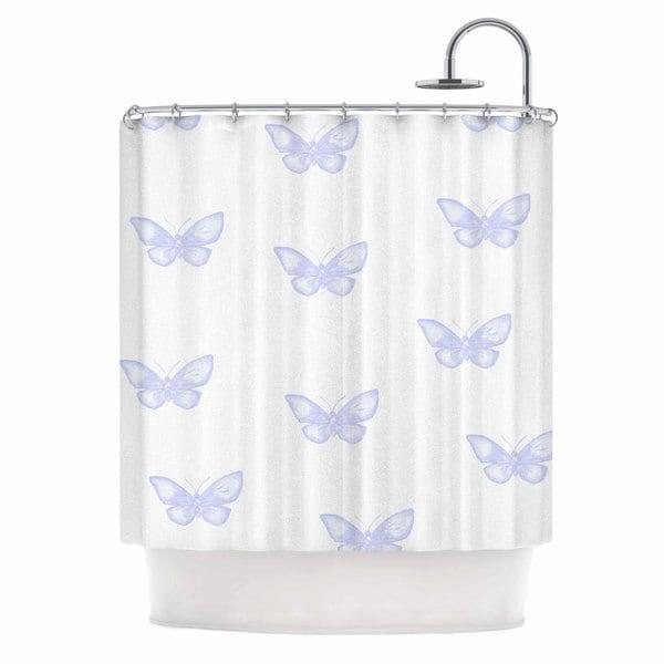 KESS InHouse Jennifer Rizzo Many Lavender Butterflies Purple Digital Shower Curtain (69x70)