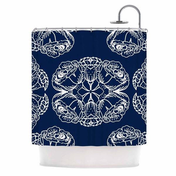 KESS InHouse Jennifer Rizzo Williams Flowers Blue Floral Shower Curtain (69x70)