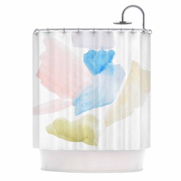 KESS InHouse Jennifer Rizzo Confetti Watercolor Abstract Shower Curtain (69x70)