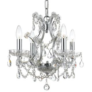 Crystorama Filmore Collection 4-light Chrome/Crystal Mini Chandelier