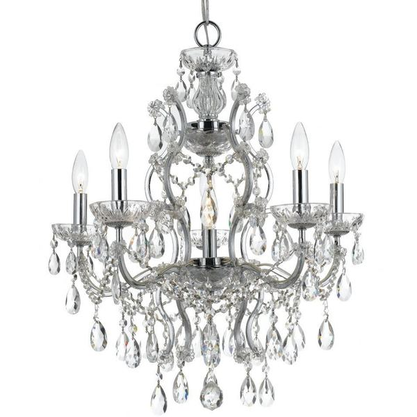 Crystorama Filmore Collection 6-light Chrome/Crystal Chandelier