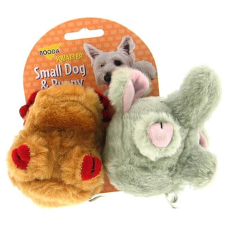 Booda Moose & Elephant Squatter Small Dog Toy 2 Pack