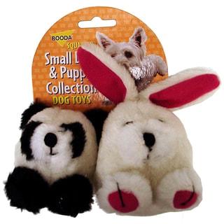 Booda Rabbit & Panda Squatter Dog Toy 2 Pack
