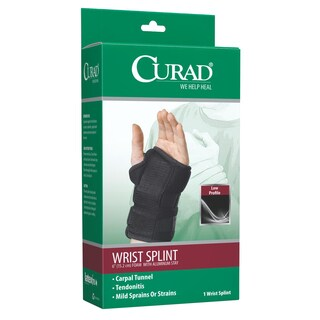 Curad Universal 6-inch Foam Wrist Splint with Aluminum Stay, Left