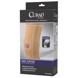 Curad Elastic Pull-Over Knee Support with Cartilage Pads