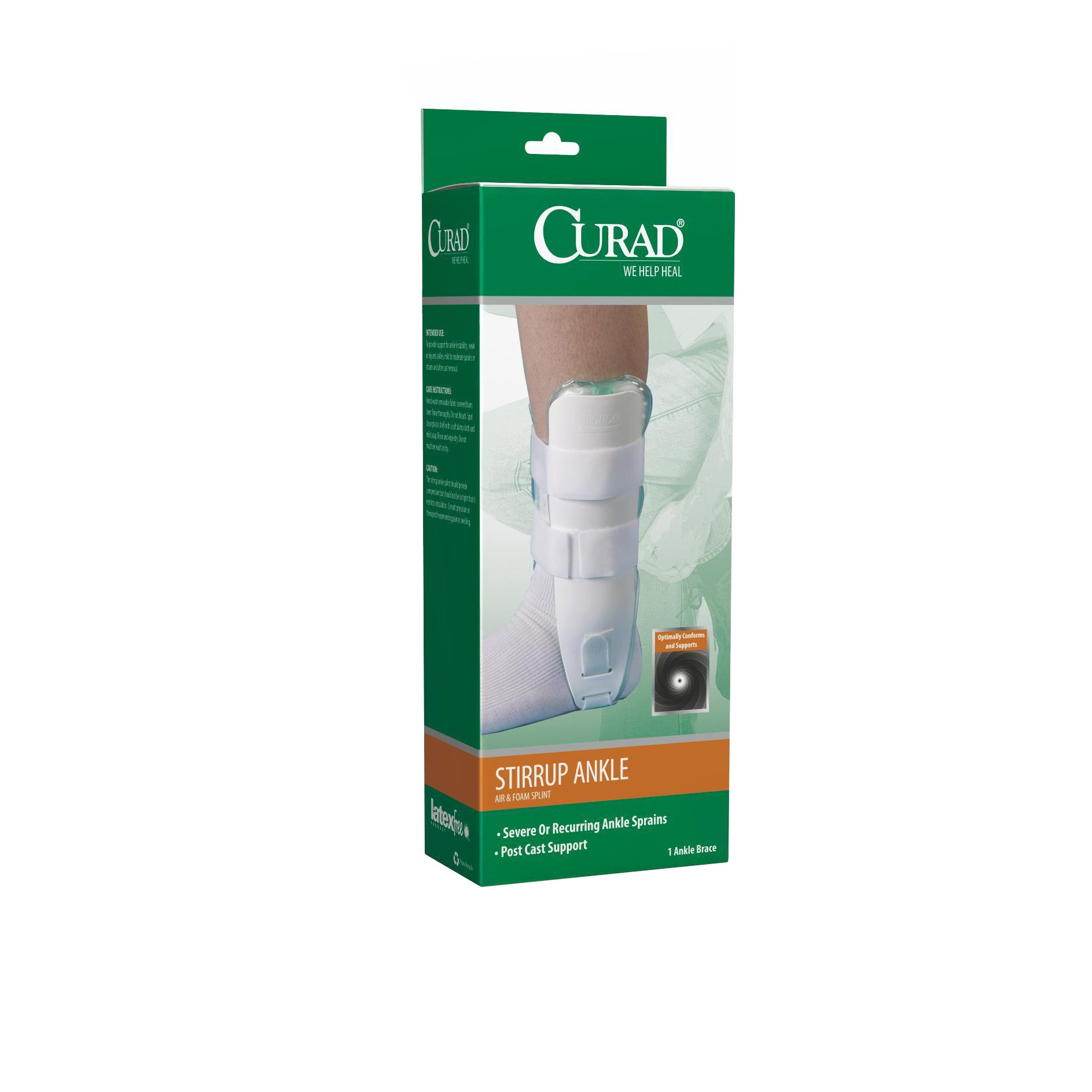 medline Curad Air and Foam Stirrup Ankle Splint (Ankle Sp...