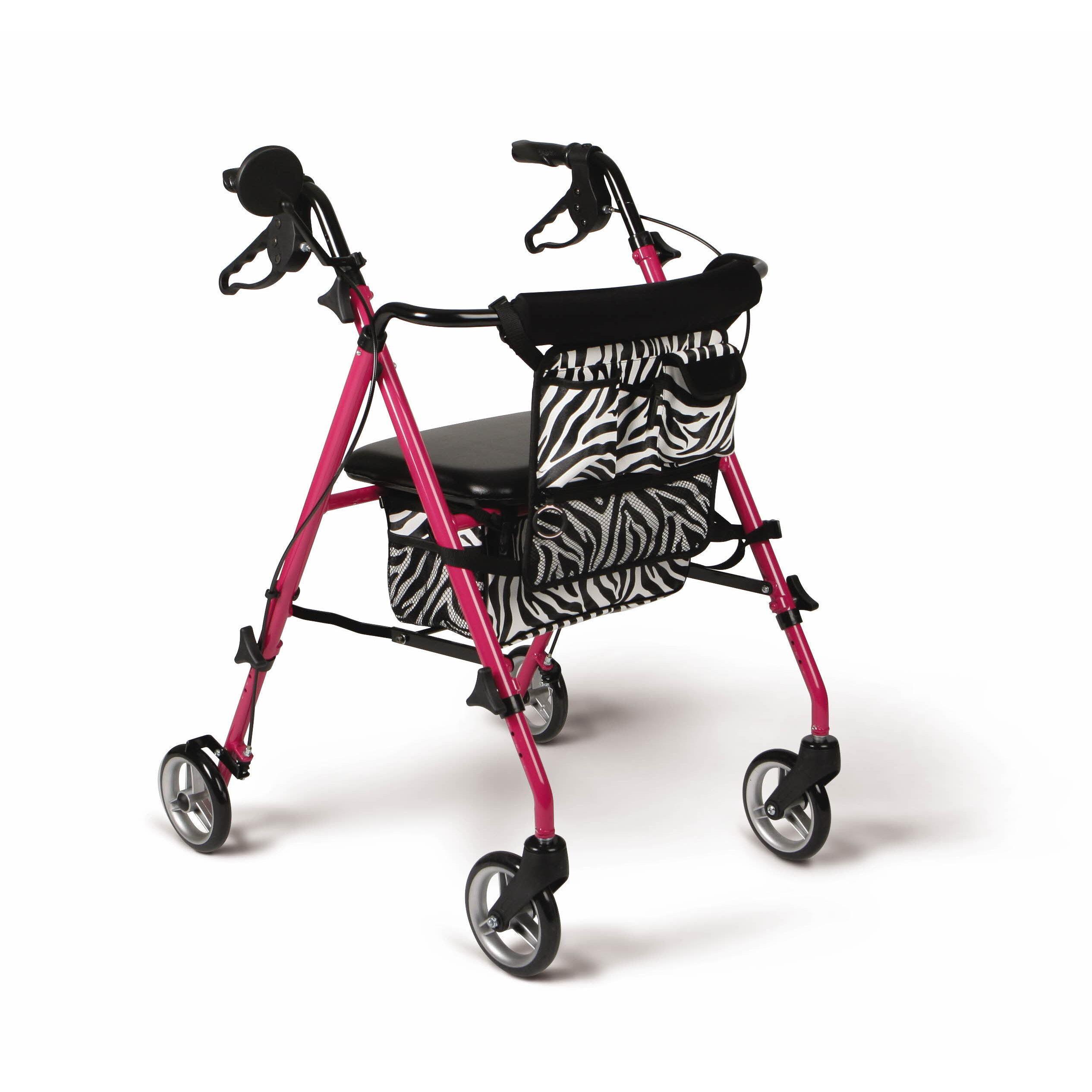 medline Posh Pink Zebra Rollator