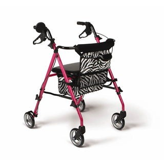 Medline Posh Pink Zebra Rollator