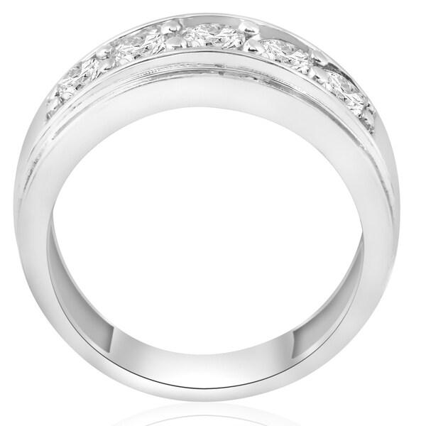 2 Ct TDW Diamant Vague Tennis Bracelet