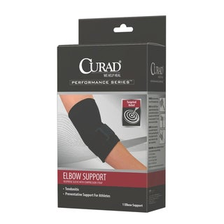 Curad Neoprene Elbow Support with Compression Strap