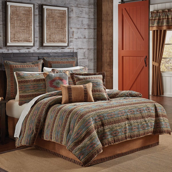 Croscill El Capitan Chenille Jacquard Woven Southwest 4-piece Comforter Set