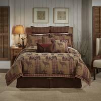 Croscill Glendale Chenille Jacquard Woven Lodge 4 Piece Comforter Set