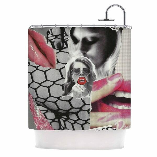 KESS InHouse Jina Ninjjaga Love Pop Art Shower Curtain (69x70)