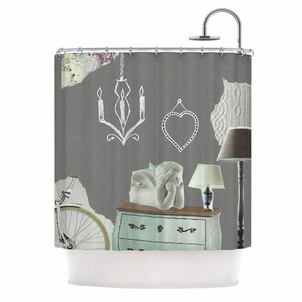 KESS InHouse Jina Ninjjaga Decor Pop Art Shower Curtain (69x70)