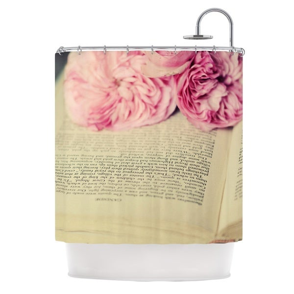 KESS InHouse Cristina Mitchell A Good Read Pink Tan Shower Curtain (69x70)