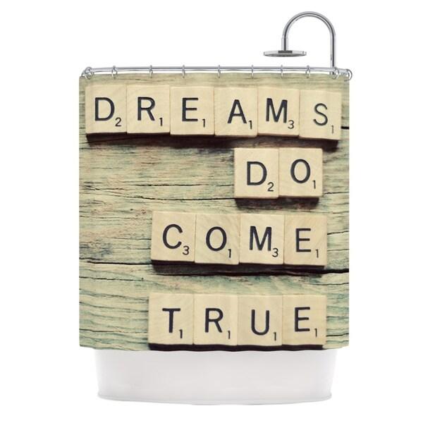 KESS InHouse Cristina Mitchell Dreams Wood Shower Curtain (69x70)