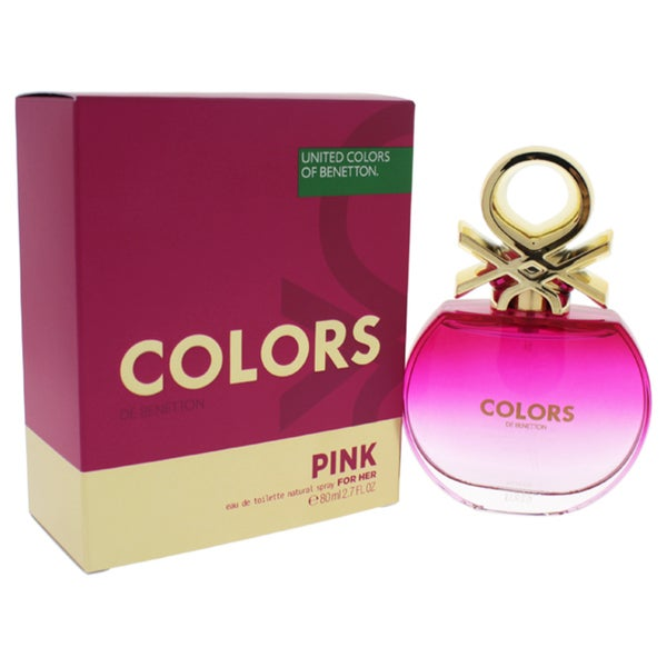 c354cb4ac7 Shop Benetton Colors Pink Women s 2.7-ounce Eau de Toilette Spray - Free  Shipping On Orders Over  45 - Overstock - 15104294