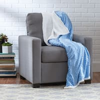 Textured Geometric Sherpa Throw