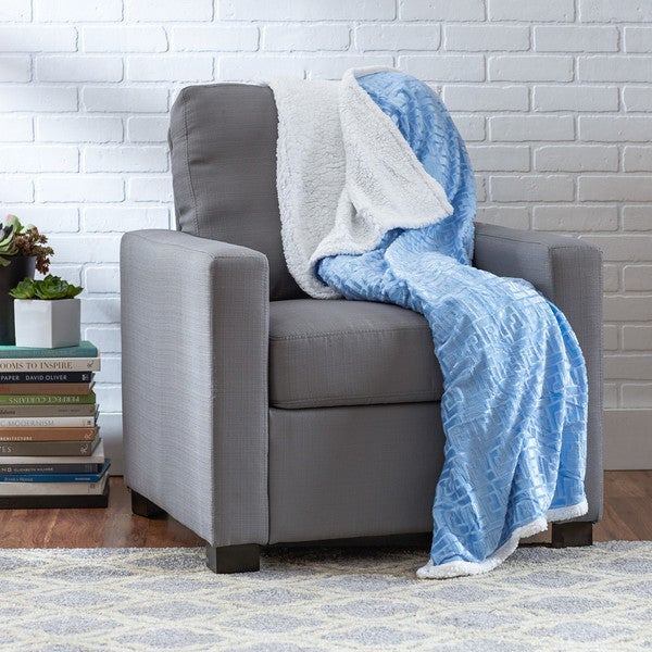 Textured Geometric Sherpa Throw. Opens flyout.