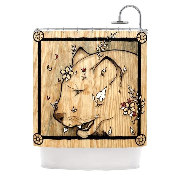KESS InHouse Jennie Penny Panther Shower Curtain (69x70)