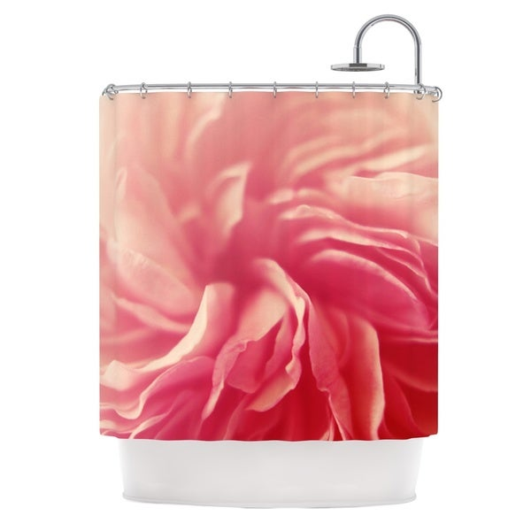 KESS InHouse Cristina Mitchell Pink Petals Floral Rose Shower Curtain (69x70)