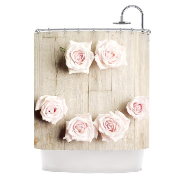 KESS InHouse Cristina Mitchell Smile Wood Roses Shower Curtain (69x70)