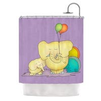 KESS InHouse Carina Povarchik Party Time Purple Yellow Shower Curtain (69x70)