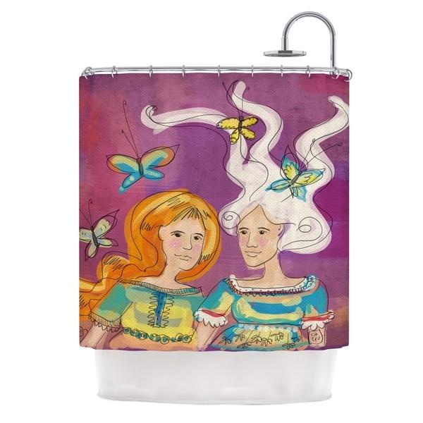 KESS InHouse Carina Povarchik Amigas Purple People Shower Curtain (69x70)