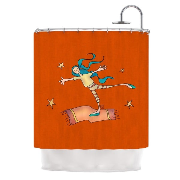 KESS InHouse Carina Povarchik Being Free Red Shower Curtain (69x70)