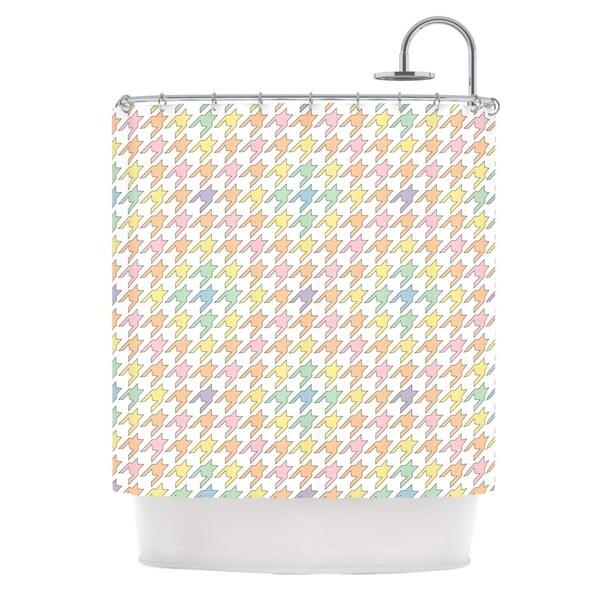 KESS InHouse Empire Ruhl Pastel Houndstooth Shower Curtain 69x70