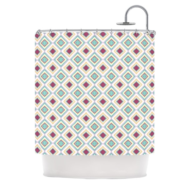 KESS InHouse Empire Ruhl Hip Diamonds Diamond Pattern Shower Curtain (69x70)