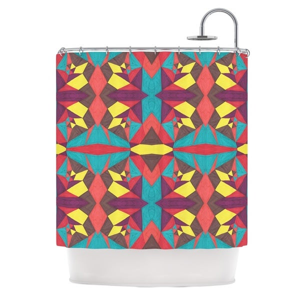 KESS InHouse Empire Ruhl Abstract Insects Multicolor Shower Curtain (69x70)