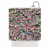 "KESS InHouse Empire Ruhl ""Rocks Spring Abstract"" Green Nature Shower Curtain (69x70) - 69 x 70"