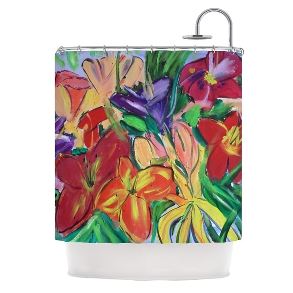KESS InHouse Cathy Rodgers Matisse Styled Lillies Rainbow Flower Shower Curtain (69x70)