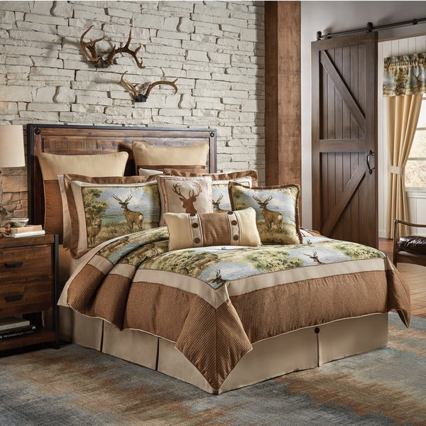 Croscill Kodiak Jacquard Woven Lodge 4 Piece Comforter Set
