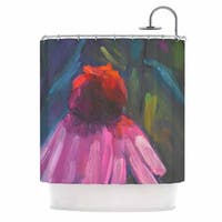 KESS InHouse Carol Schiff Shady Coneflower  Pink Red Shower Curtain (69x70)