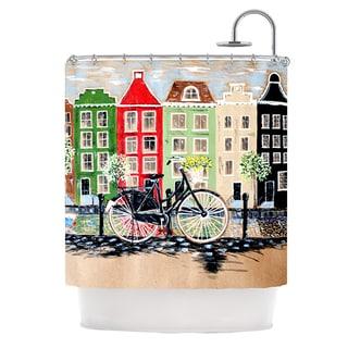 KESS InHouse Christen Treat Bicycle Shower Curtain (69x70)