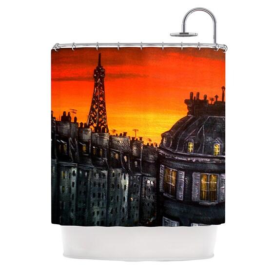 KESS InHouse Christen Treat Paris Shower Curtain (69x70)
