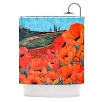 KESS InHouse Christen Treat Poppies Shower Curtain (69x70)