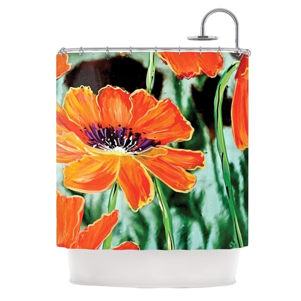 KESS InHouse Christen Treat Through the Looking Glass Orange Green Shower Curtain (69x70)