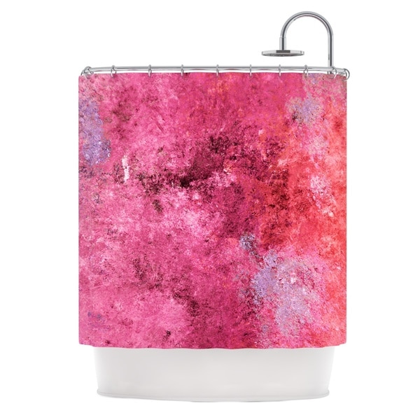 KESS InHouse CarolLynn Tice Cotton Candy Red Pink Shower Curtain (69x70)