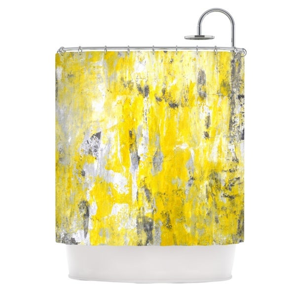 KESS InHouse CarolLynn Tice Picking Around Yellow Shower Curtain (69x70)