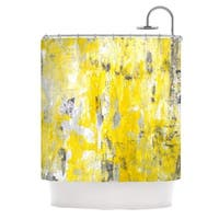 KESS InHouse CarolLynn Tice Picking Around Yellow Shower Curtain (69x70)