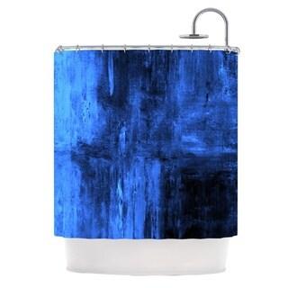 KESS InHouse CarolLynn Tice Deep Sea Blue Shower Curtain (69x70)