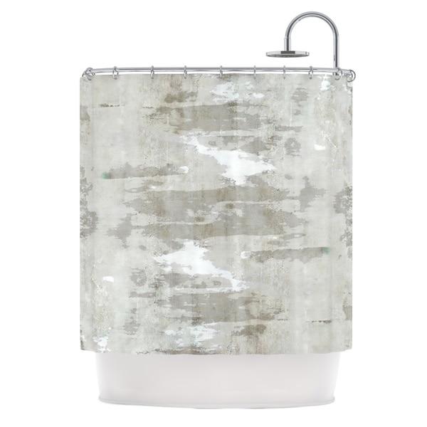 KESS InHouse CarolLynn Tice Effortless Neutral Gray Shower Curtain (69x70)